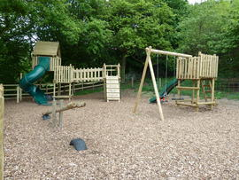 Outdoor playground area