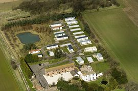 aerial view of Newlands holiday home park