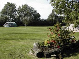 A view of the rear camping fieldd