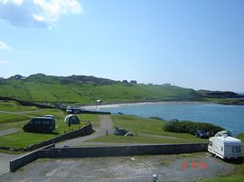 View of Scourie Beach from Caravan Park