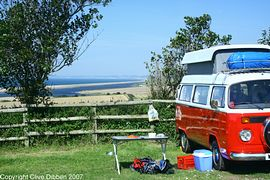 Camper van at Sea Barn Farm
