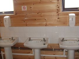 the great re-furbished shower/toilet block on