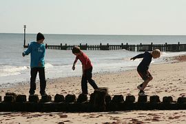 Messing about on the Overstrand beach